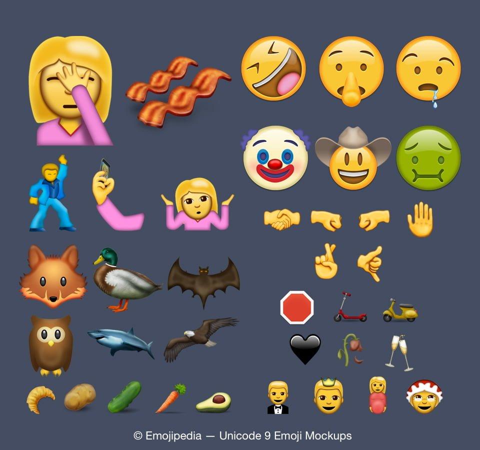 Tam 74 Tane Yeni Emoji: iOS 10 ile Gelecek Hayal Kırıklığı iOS 10 ile Gelecek Hayal Kırıklığı ios 10 emoji unicode 9 0