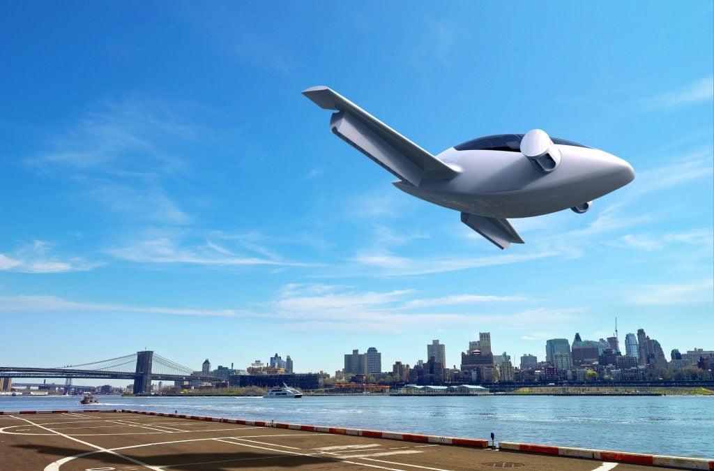 lilium_aircraft_takes_off_from_a_city uçan otomobil İçin milyon euro'luk yatırım yapıldı! Uçan Otomobil İçin Milyon Euro'luk Yatırım Yapıldı! Lilium aircraft takes off from a city 1024x675