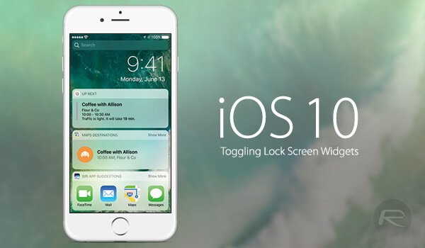 ios-10-lock-scree-widgets-1 iOS 10 İşletim Sisteminin Başı Güvenlik Açığı İle Dertte!