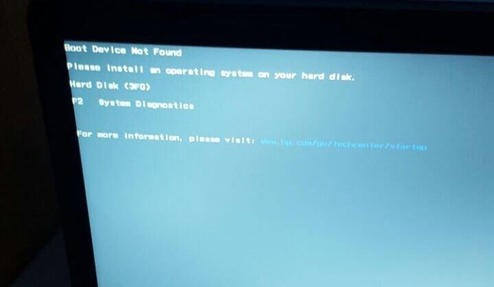 Boot Device Not Found Hatası Çözümü