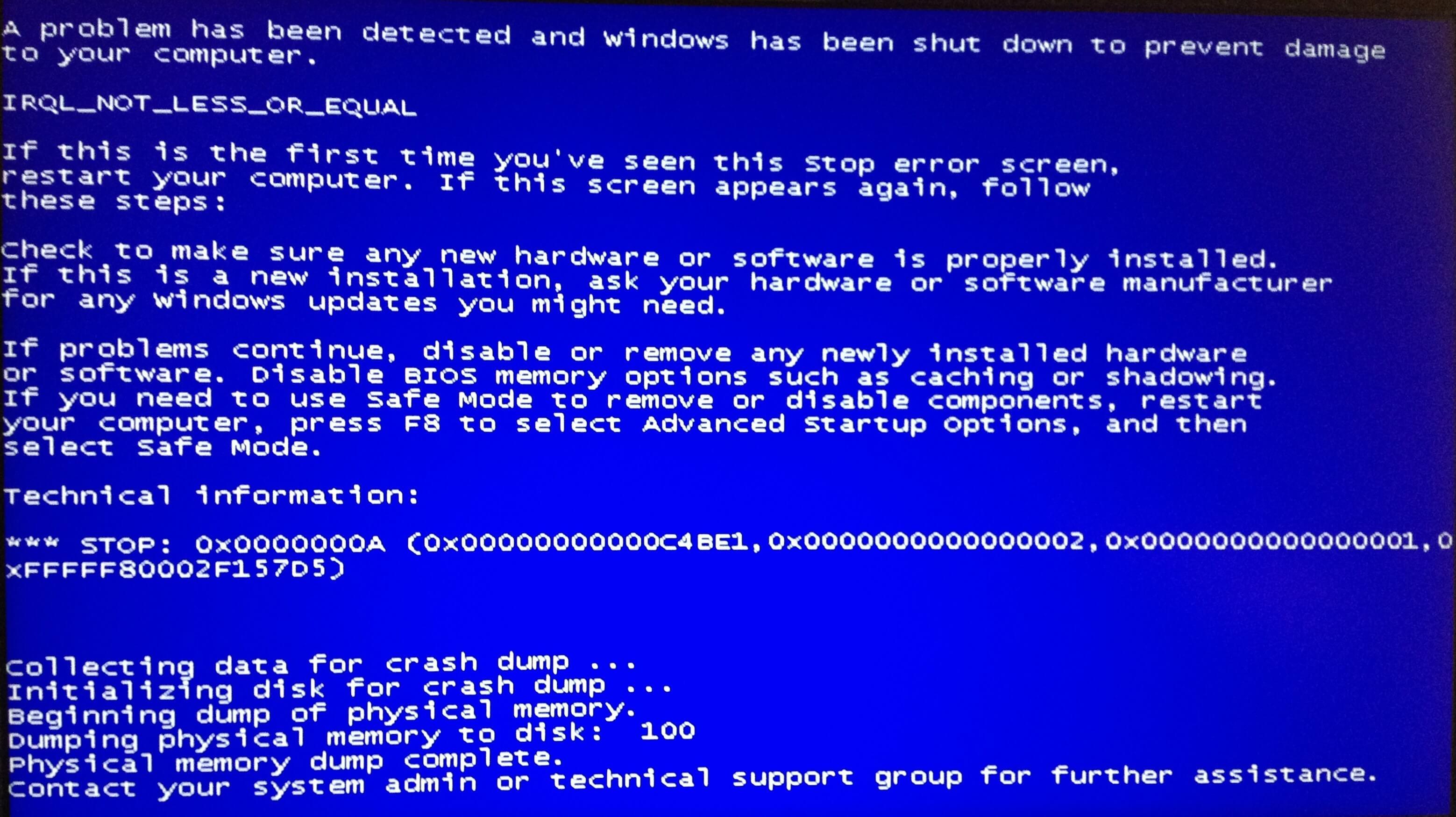 Mavi Ekran Hatası Nedenleri ve Çözümleri  -1- lp3r6