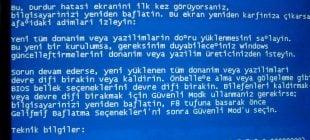 Genel Bilgisayar Hata ve Sorunları -1-