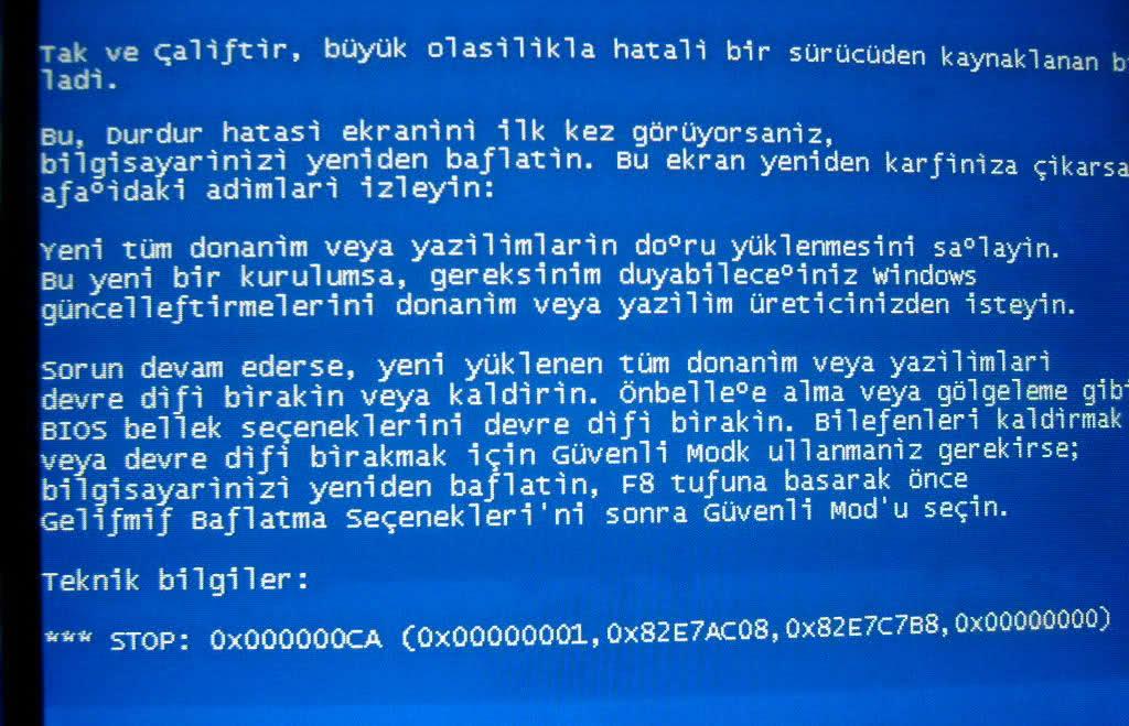 genel bilgisayar hata ve sorunları -1- Genel Bilgisayar Hata ve Sorunları -1- mavi ekran hatasi 1