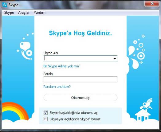 Skype bağlanamıyor sorunu