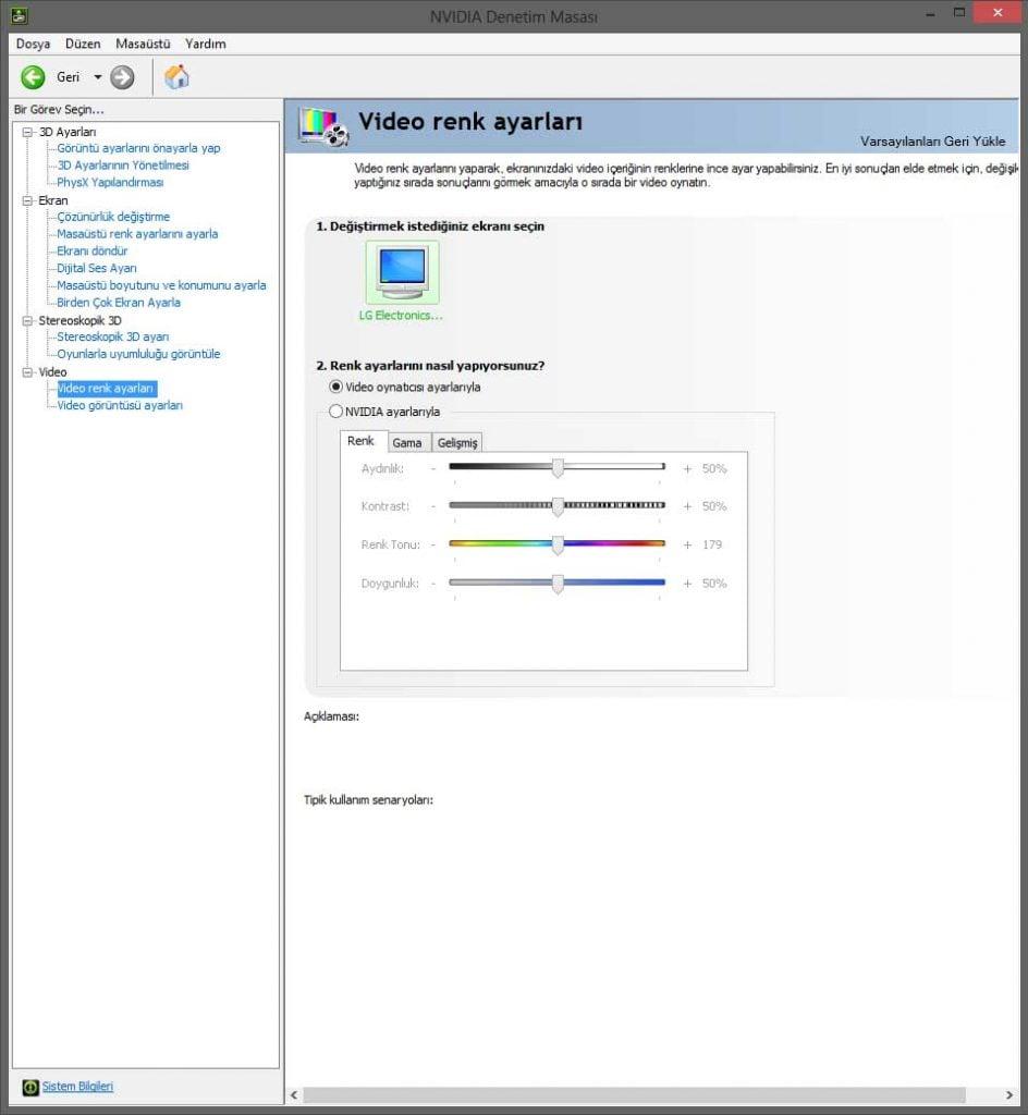 Ekran renk ayarları Monitör Renk Bozulması Monitör Renk Bozulması Çözümü ekran renk ayari 944x1024