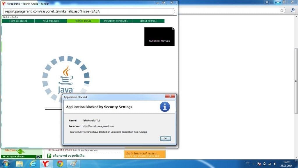 Java açılmıyor Java Application Blocked By Java Security Hatası Java Application Blocked By Java Security Hatasına Çözüm java acilmiyor 1024x576