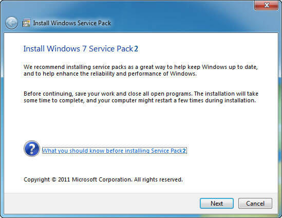 Service Pack 2 Hatası Bilgisayar Açılmıyor