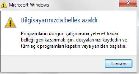Yetersiz Bellek Sorunu yetersiz bellek sorunu Windows Yetersiz Bellek Sorunu windows yetersiz bellek