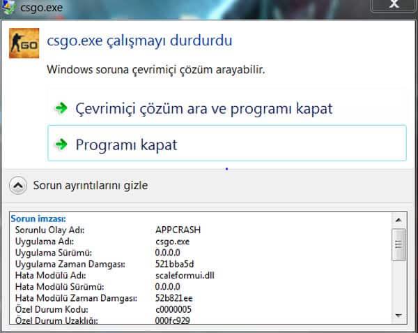 Oyun uyumsuzluk hatası Appcrash Hatası Windows Appcrash Hatasına Çözüm appcrash hatasi