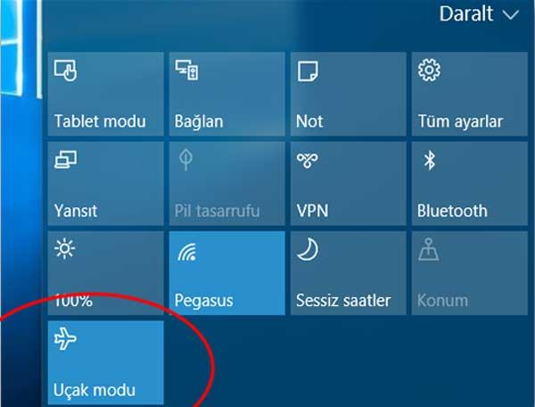 Uçak modu sürekli açık kalıyor Uçak Modu Kapanmıyor Windows 10 Uçak Modu Kapanmıyor Çözümü ucak modu kapanmiyor