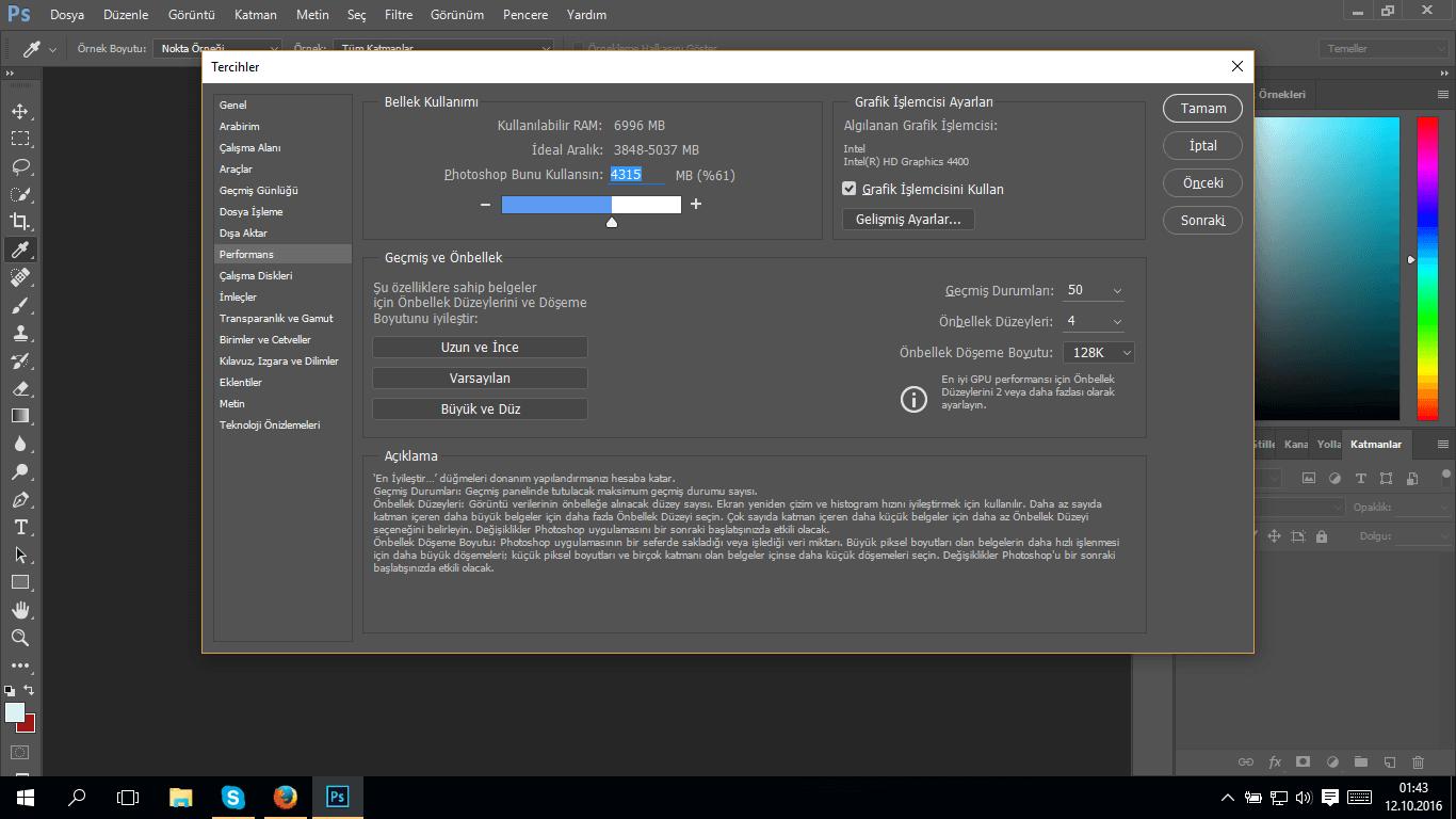 Photoshop RAM Kullanımı Photoshop RAM Kullanımını Değiştirme Photoshop RAM Kullanımını Değiştirme photoshop ram kullanimi