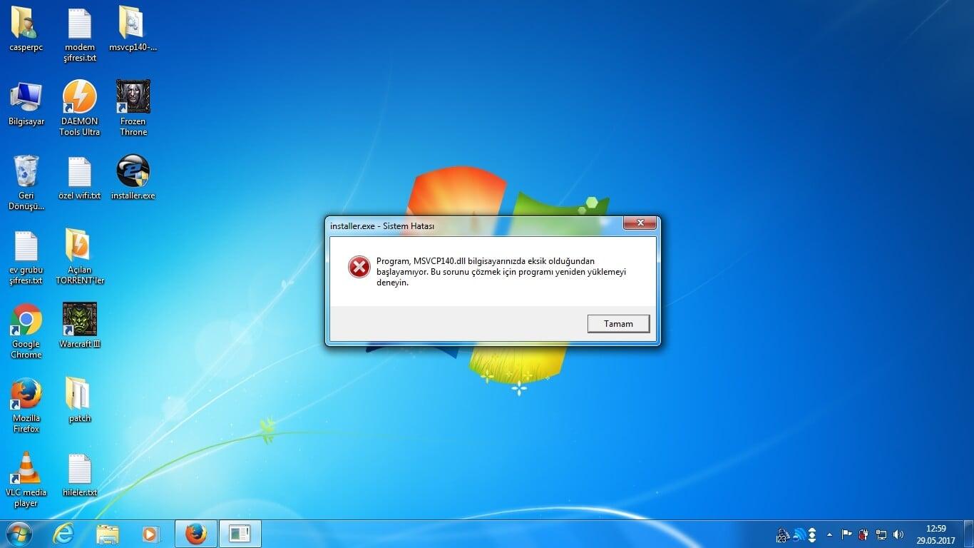 Program açılış hataları msvcp140d.dll hatası Bilgisayarda msvcp140d.dll Hatası İçin Çözüm Yolu program acilis hatalari