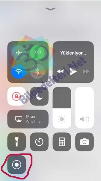 İphone ekran videosu Çekme İphone Ekran Videosu Çekme (Programsız) Yeni Özellik yol4