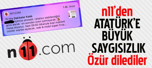 Boykot Edilen N11'den 10 Kasım ile ilgili Açıklama Geldi n11 den ulu onder m k ataturk e kustahlik h82632 6b0f4