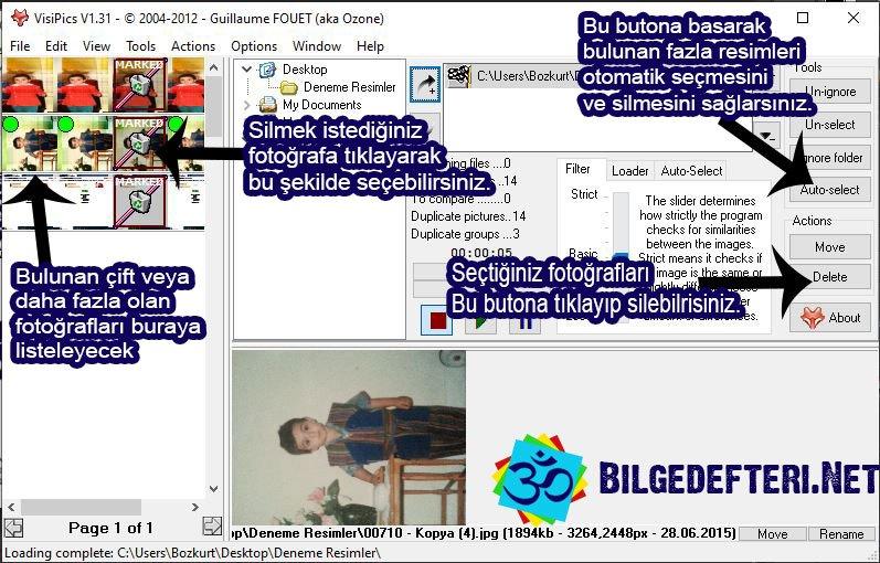 bilgisayarda aynı fotoğrafları bulma Bilgisayarda Aynı Fotoğrafları Bulma VisiPics 4