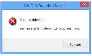 nvidia denetim masası erişim reddedildi hatası Nvidia Denetim Masası Erişim Reddedildi Hatası Kesin Çözümleri zpVJCUt