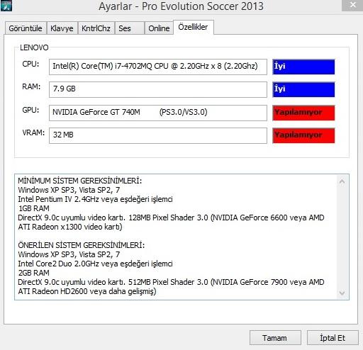 pes 2013 vram 128 mb PES 2013 VRam 128 MB Hatası Kesin Çözümler 0bb3b8fc60d22d254bb6e7c167b40862