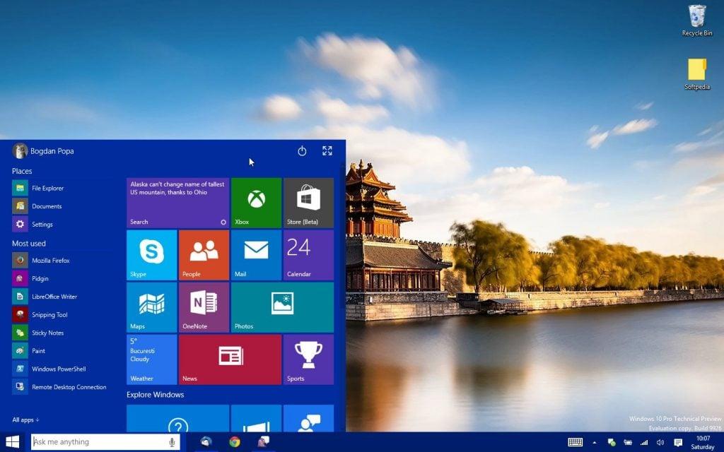 Microsoft-Improves-the-Windows-10-Start-Menu-in-Build-10036-475887-3 windows 10 yeniliklerle geliyor! Windows 10 Yeniliklerle Geliyor! Microsoft Improves the Windows 10 Start Menu in Build 10036 475887 3 1024x640
