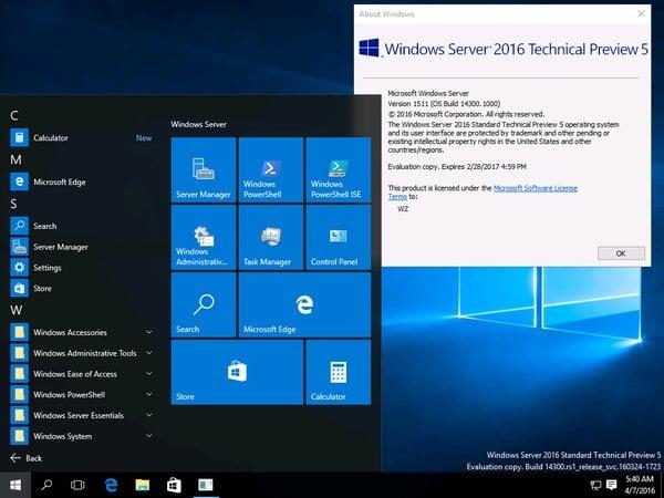 server-2016-tp5 Windows Server 2016 Kullanıma Açıldı! Windows Server 2016 Kullanıma Açıldı! Server 2016 TP5