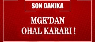 MGK'dan OHAL KARARI